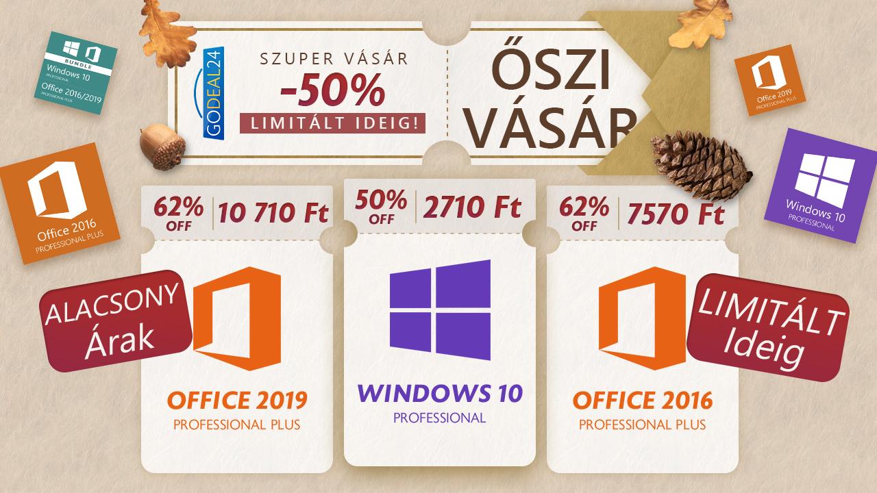2700 forint a Windows 10, de csak limitált ideig 2