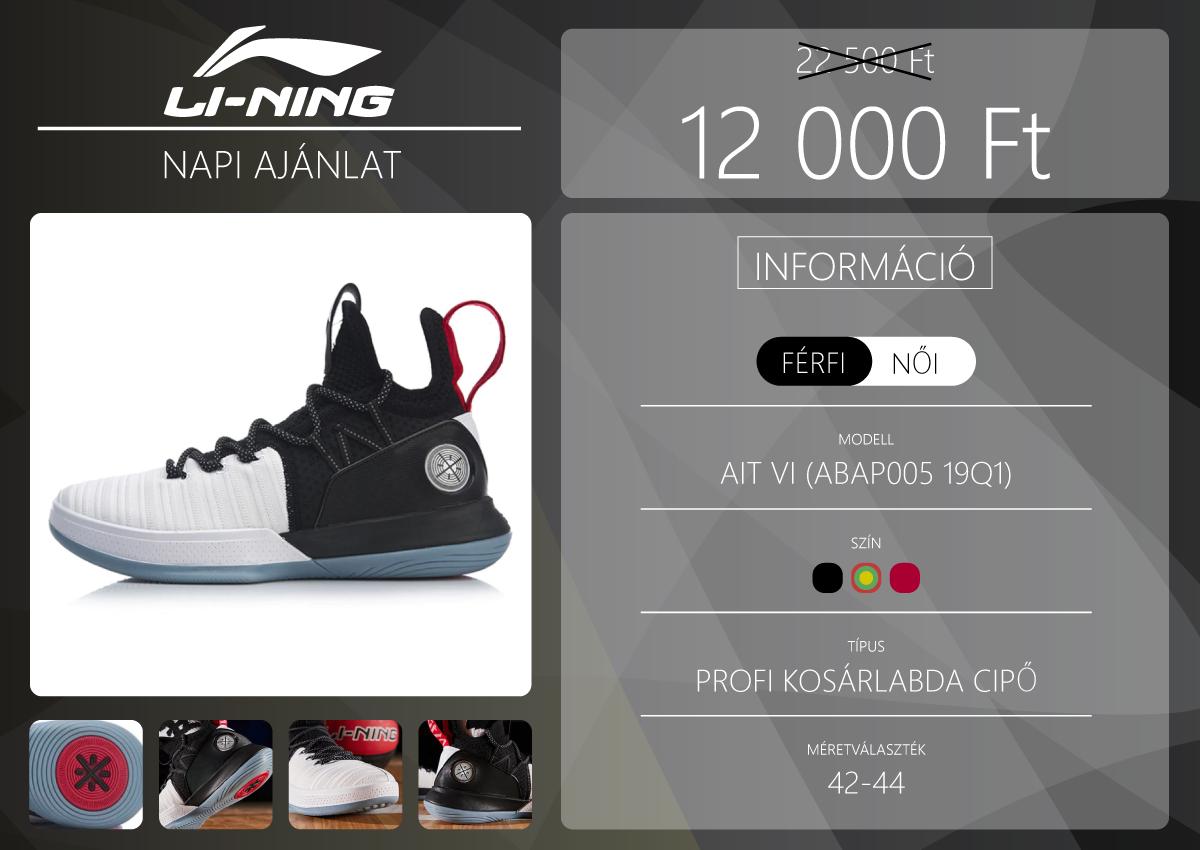 Kosaras cipő majdnem féláron a Li-Ning napi ajánlatában 2