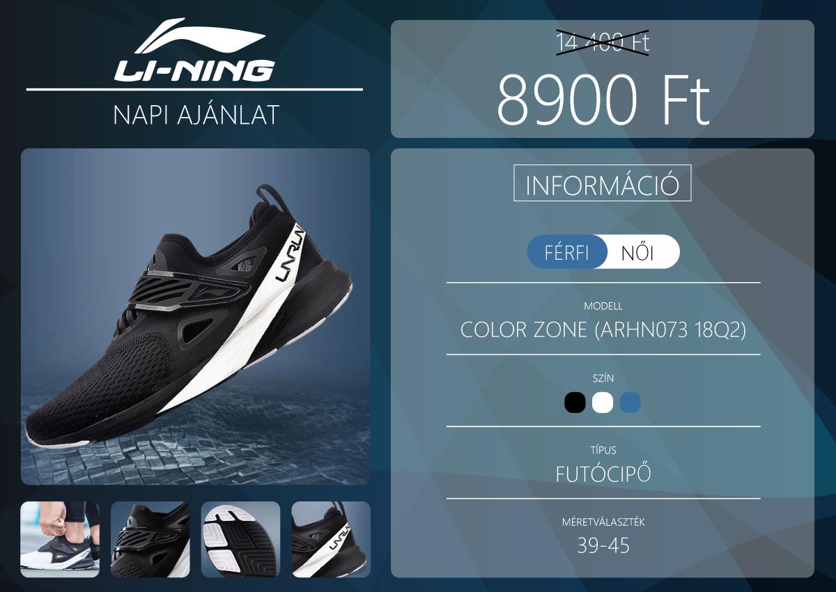 Olcsó kezdő futócipő a Li-Ning hétfői ajánlata 2