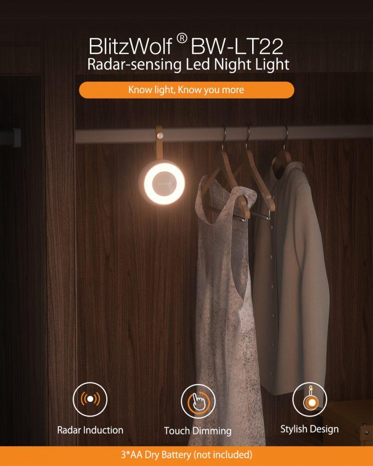 Ismét olcsón kapható a BW-LT22-es éjjelilámpa 2