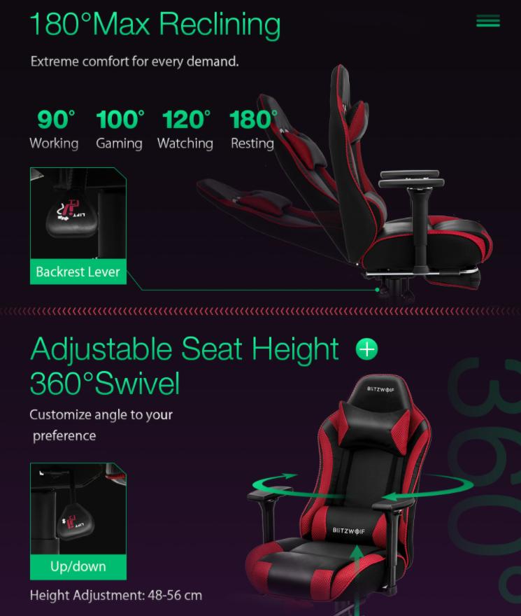 Felkerült a pont az i-re a BlitzWolf BW-GC5 gamer székkel 6