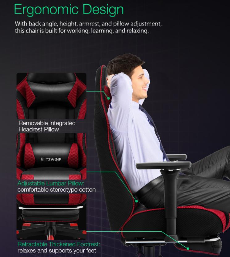 Felkerült a pont az i-re a BlitzWolf BW-GC5 gamer székkel 4