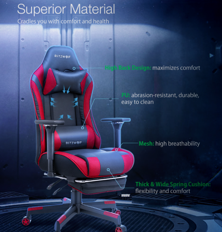 Felkerült a pont az i-re a BlitzWolf BW-GC5 gamer székkel 3