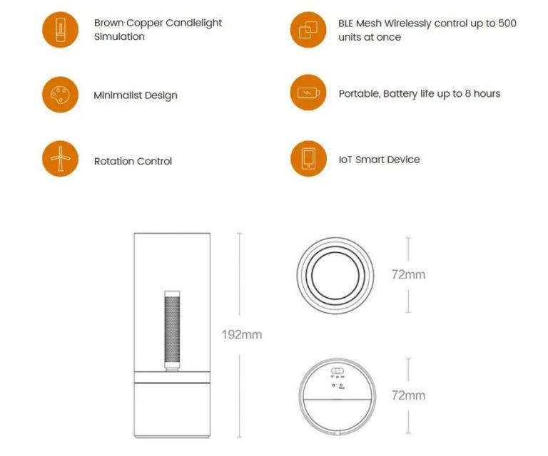 Kissé esett az ára a Xiaomi Yeelight Candela lámpának 8