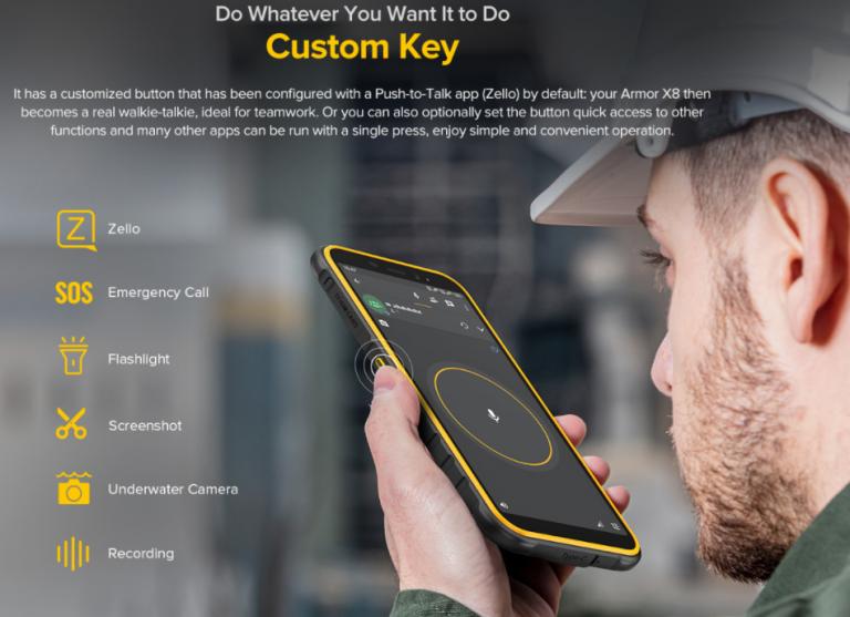 Meglepő árazással jelent meg az Ulefone Armor X8 strapatelefon 4