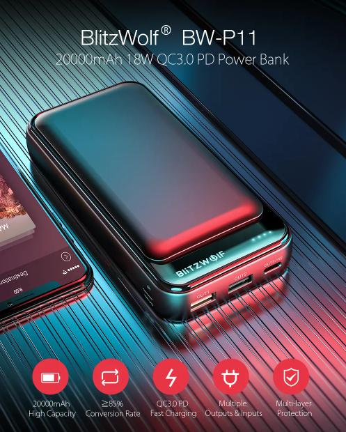 Újabb BlitzWolf powerbank lett akciós a Banggoodon 2