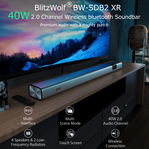 Olcsó soundbar otthonra – BlitzWolf BW-SDB2 XR 2