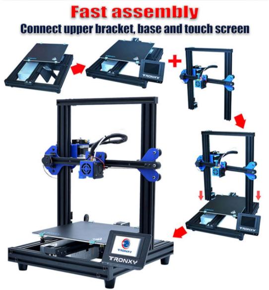 3D nyomtatás otthon, a Tronxyval 4