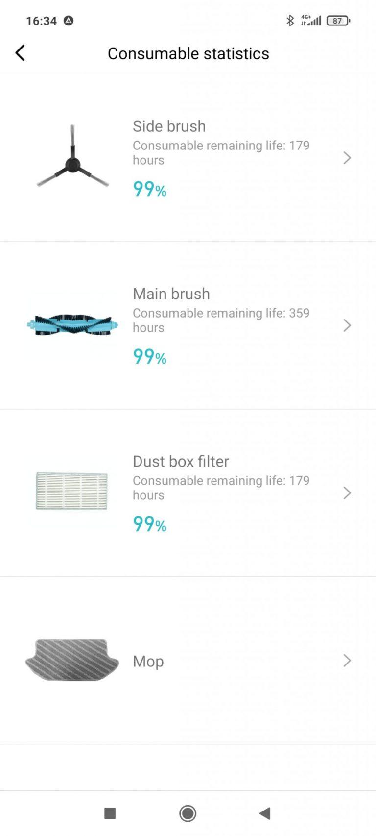 Xiaomi Viomi SE robotporszívó teszt 31