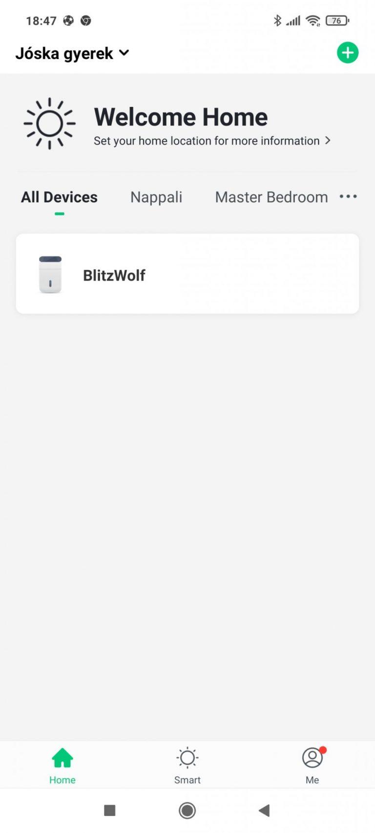 BlitzWolf BW-AP1 légtisztító teszt 17
