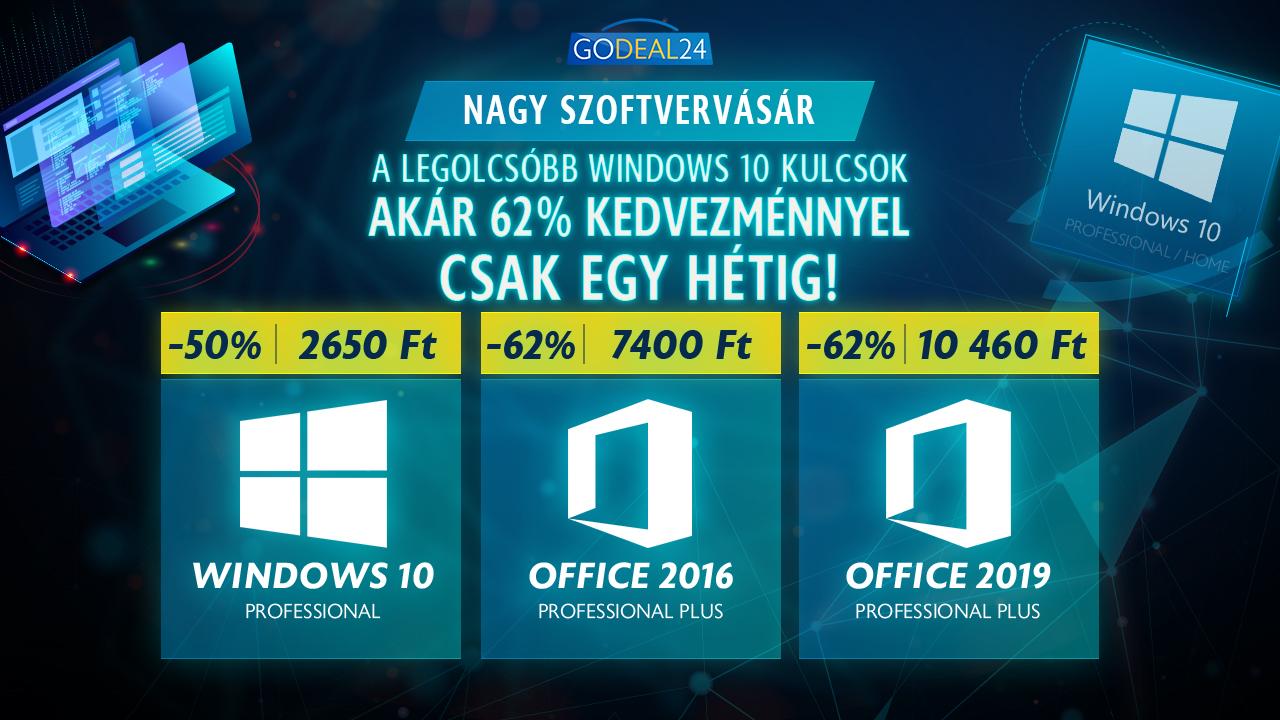 Windows 10 Pro 2650 forintért 2