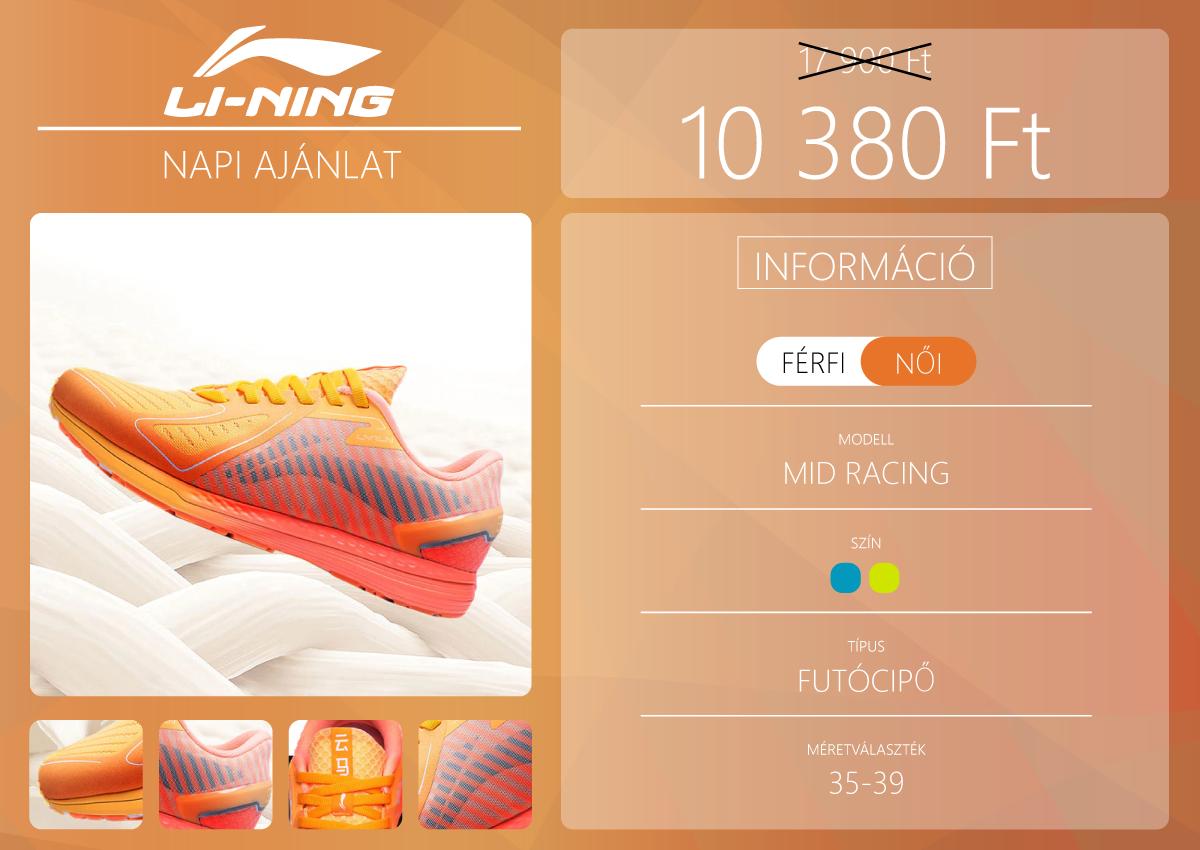 Akciós a női Li-Ning Mid Racing cipő 2