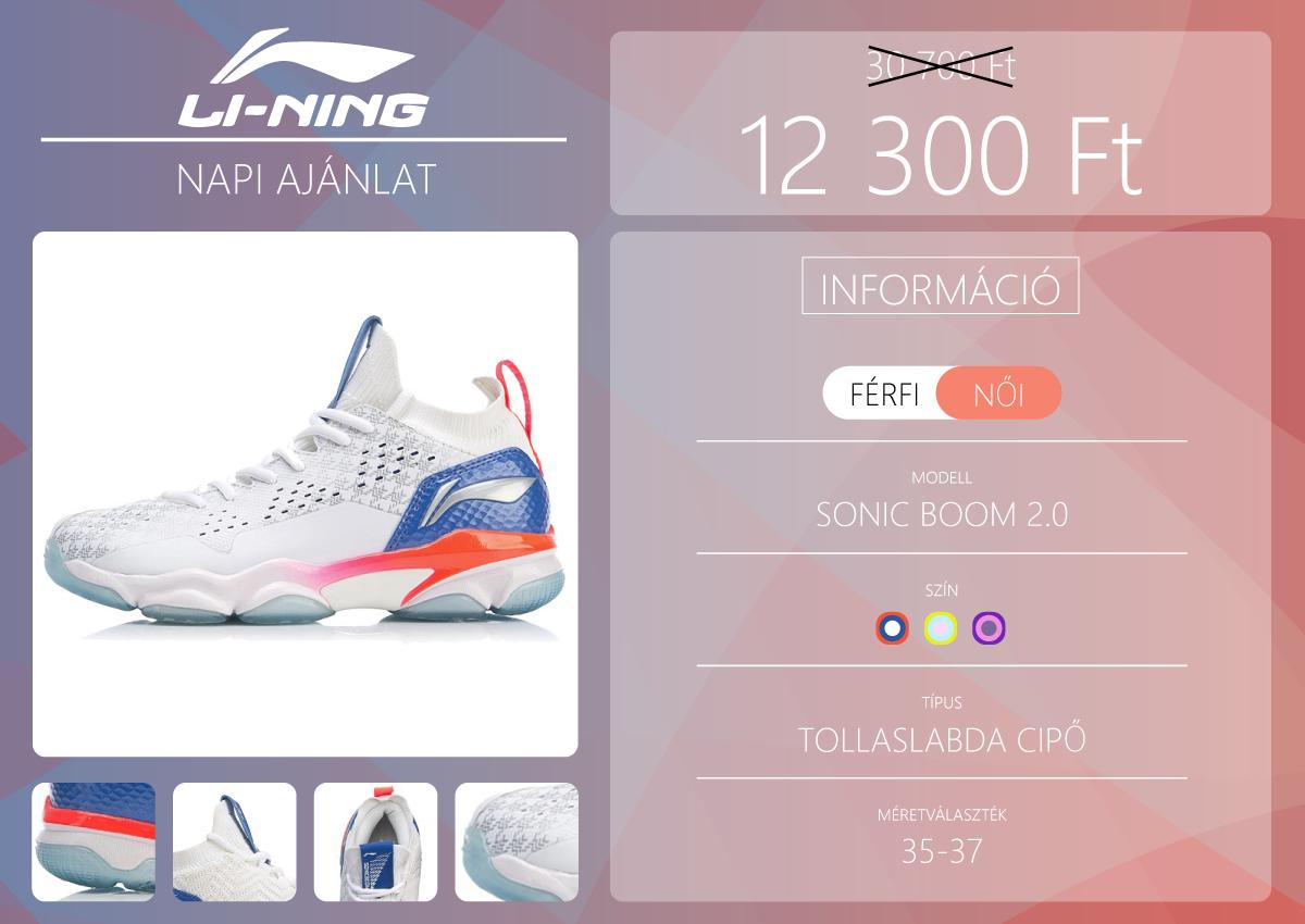 Li-Ning Sonic Boom 2.0 cipő a napi Ali ajánlat 2