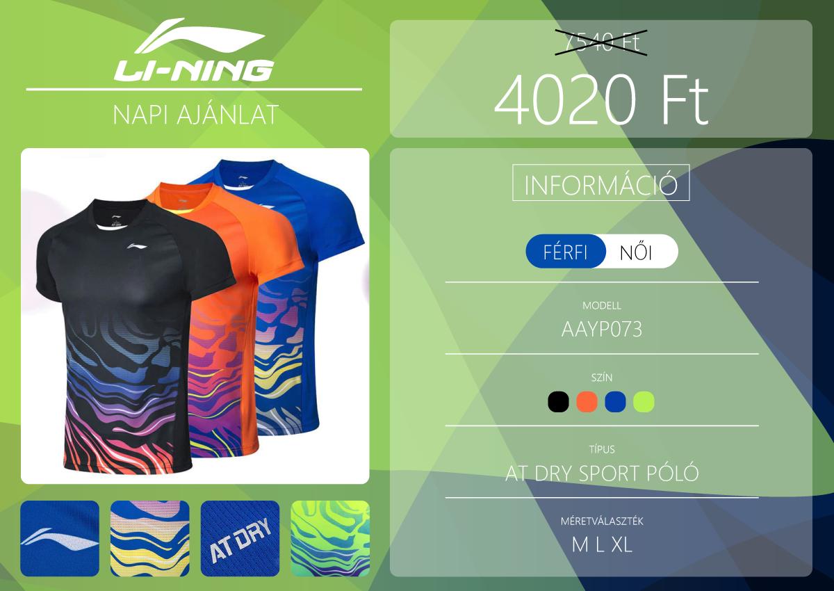 Li-Ning sport póló a napi akcióban 2
