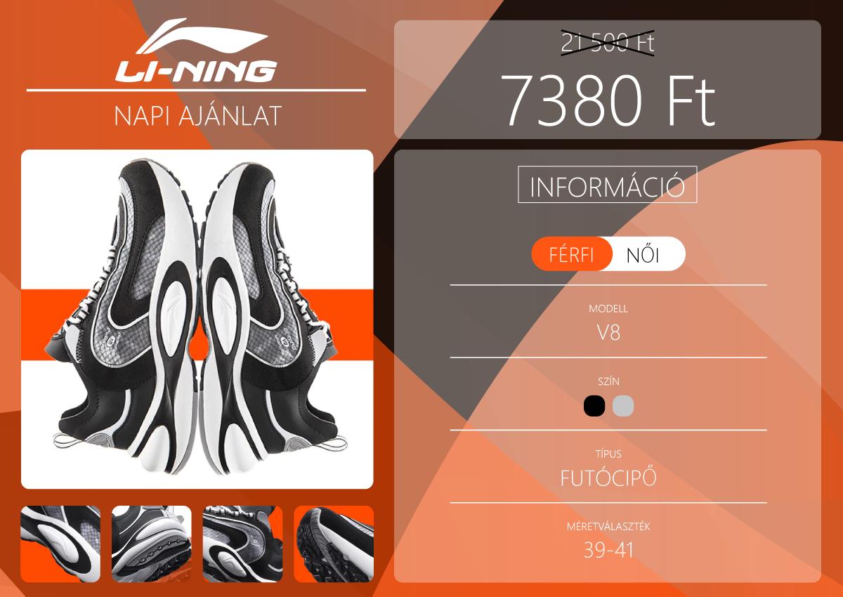 Li-Ning V8 futócipő az eredeti ár harmadáért 2