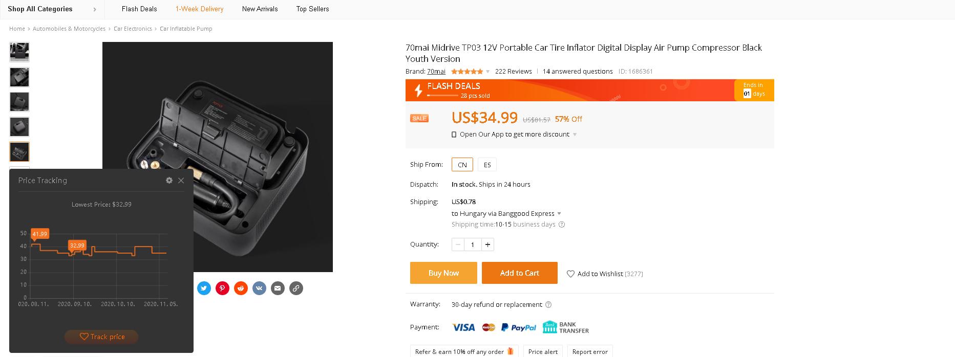 Történelmi mélyponton a Xiaomi 70mai autós pumpa ára 7