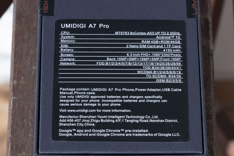 Umidigi A7 Pro okostelefon teszt 3