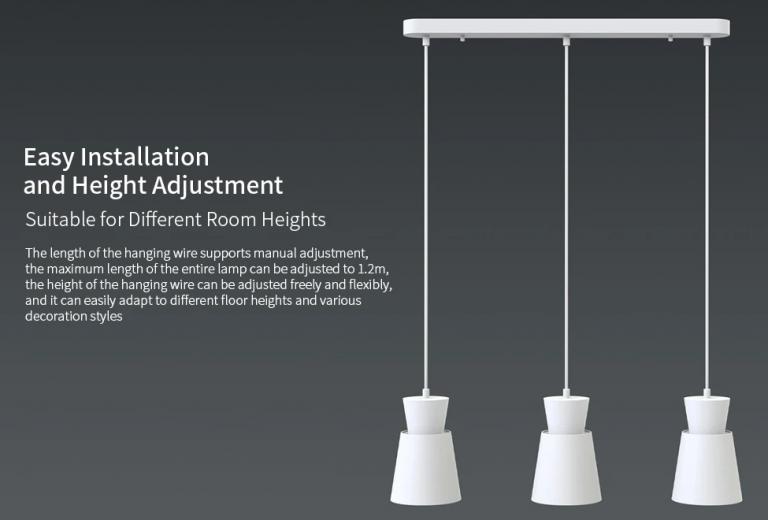 E27 foglalatos Xiaomi mennyezeti lámpa mérsékelt áron 4