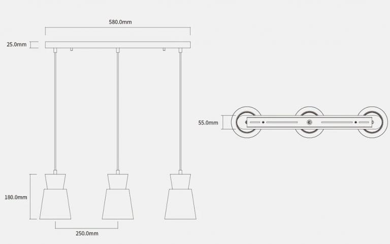 E27 foglalatos Xiaomi mennyezeti lámpa mérsékelt áron 9