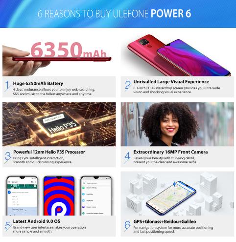 Óriási akku, alacsony ár – akciós az Ulefone Power 6 3