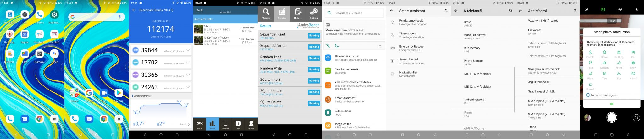 Umidigi A7 Pro okostelefon teszt 18