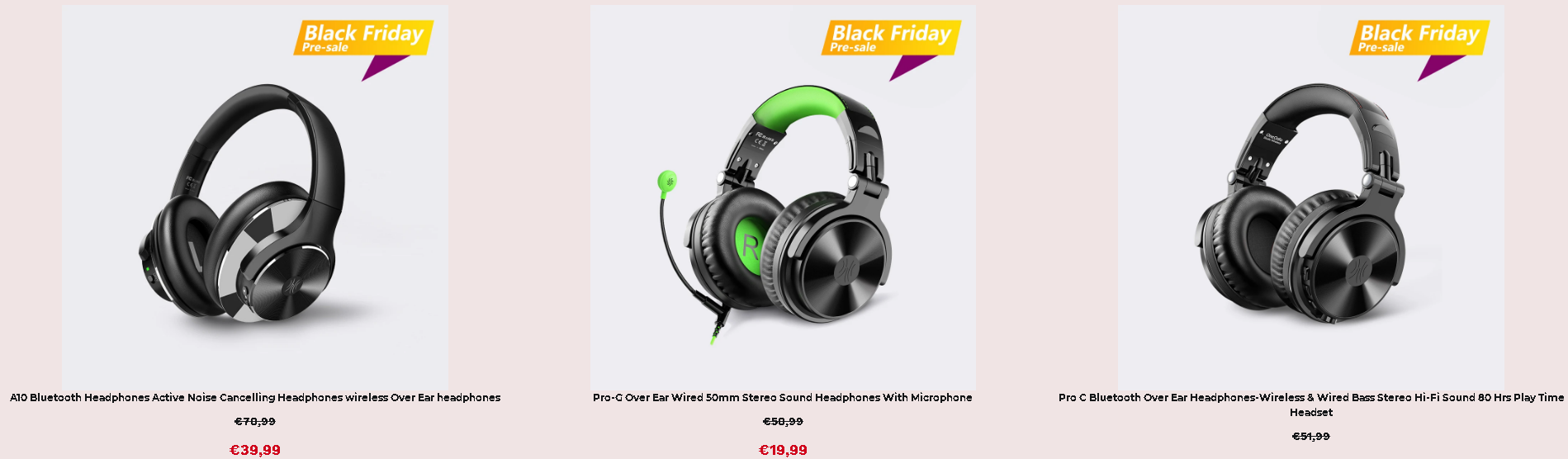 OneOdio Black Friday akciók 2
