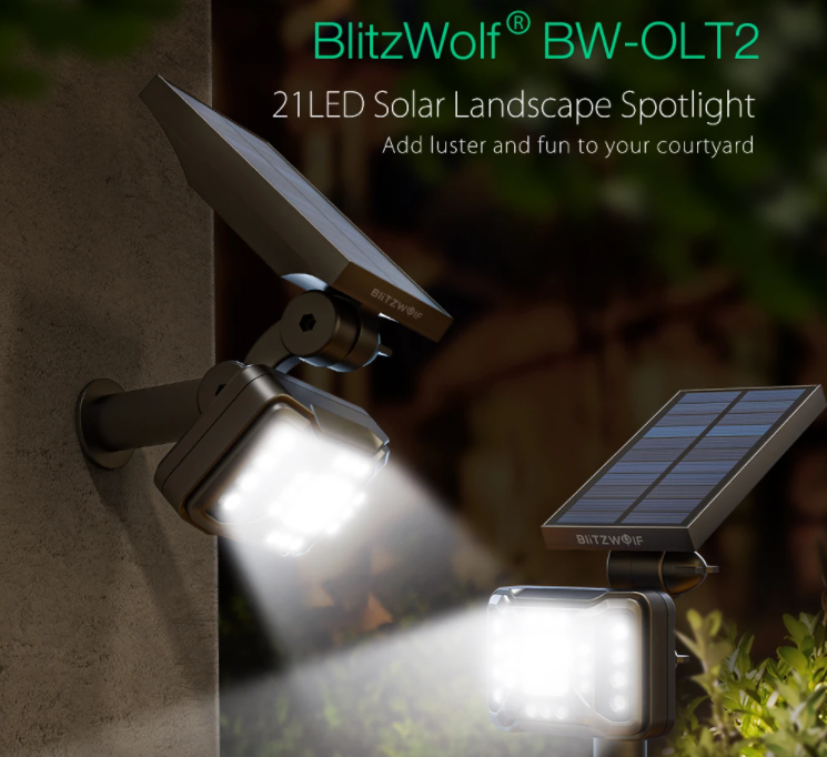 3400 forintért vesztegetnek egy BlitzWolf kültéri lámpát 2