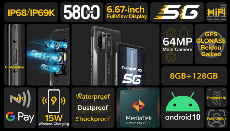 Megérkezett a világ első 5G-s strapatelefonja 10