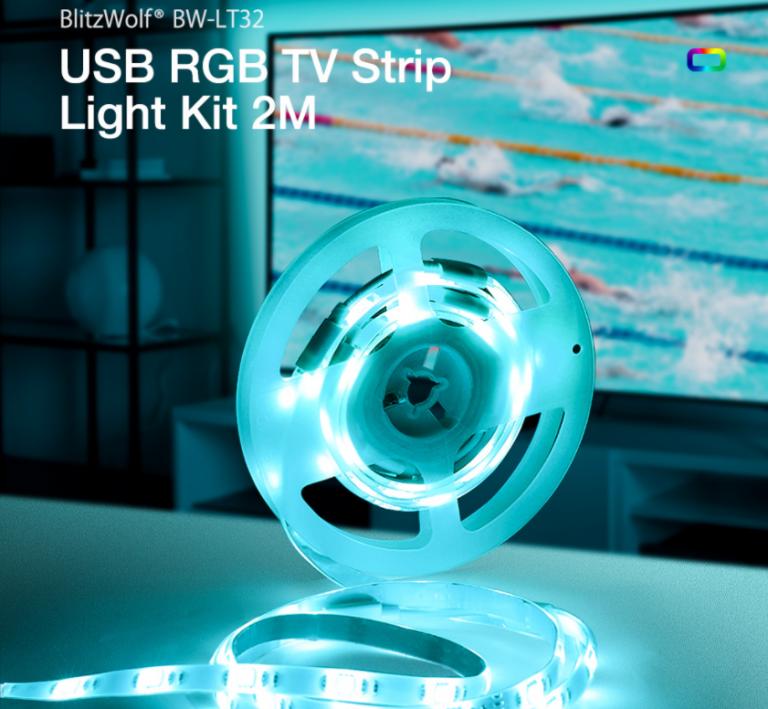 BlitzWolf LED tuning tévékhez 2