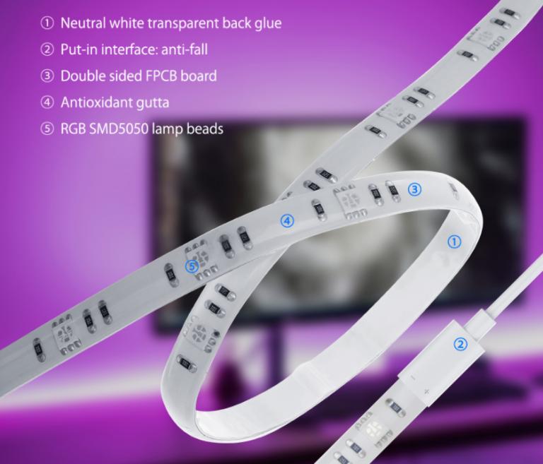 BlitzWolf LED tuning tévékhez 5