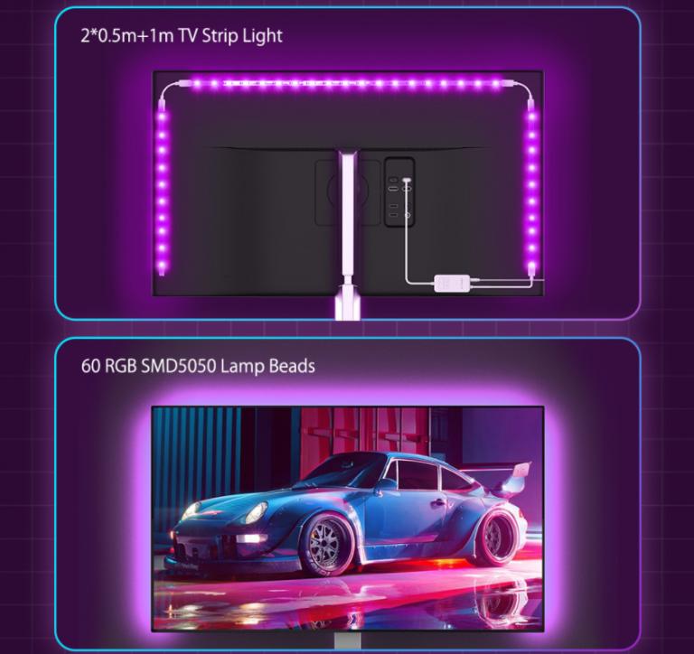 BlitzWolf LED tuning tévékhez 7