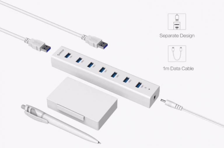 Bitang olcsó 7 portos USB hub az Oricotól 3
