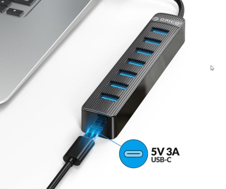 Bitang olcsó 7 portos USB hub az Oricotól 4