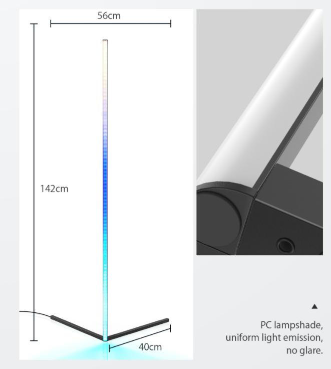 Sarokba állítható RGB állólámpa újdonság a BlitzWolftól 8