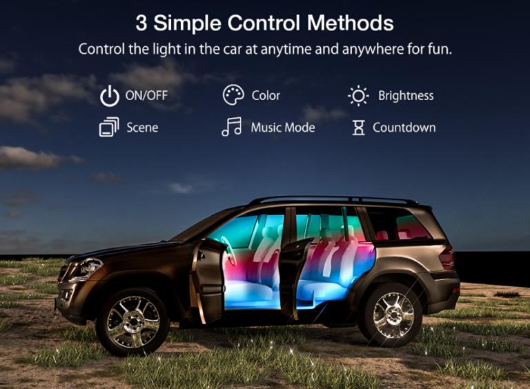 Autós RGBIC LED világítás a BlitzWolftól a mai nap újdonsága 6