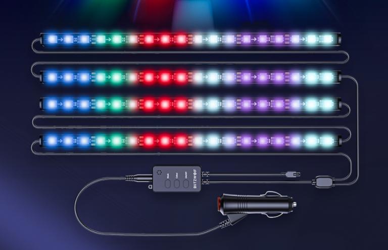 Autós RGBIC LED világítás a BlitzWolftól a mai nap újdonsága 2