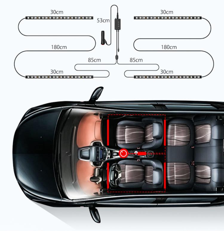 Autós RGBIC LED világítás a BlitzWolftól a mai nap újdonsága 5