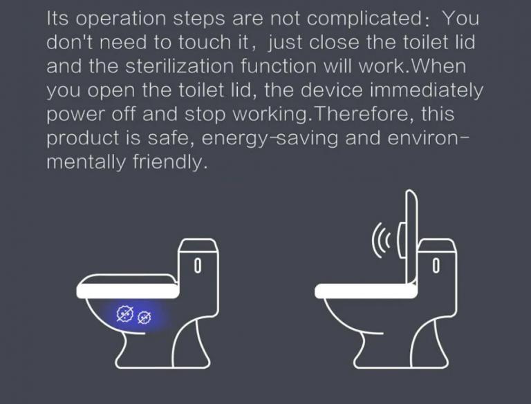 A WC csésze sterilizálás egy új szintje a kínaiaktól 6
