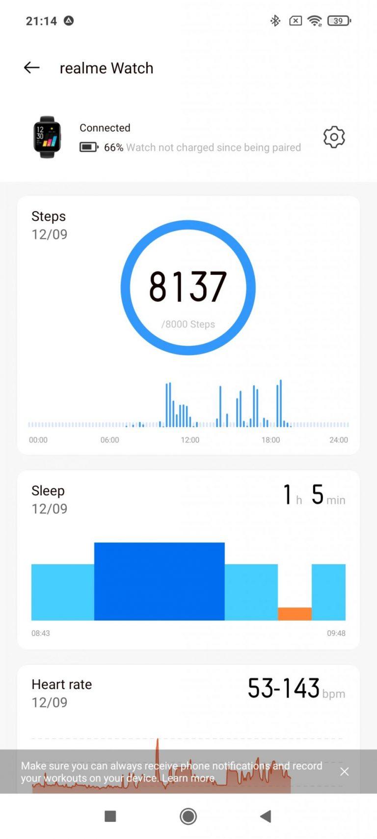 Realme Watch aktivitásmérő teszt 14