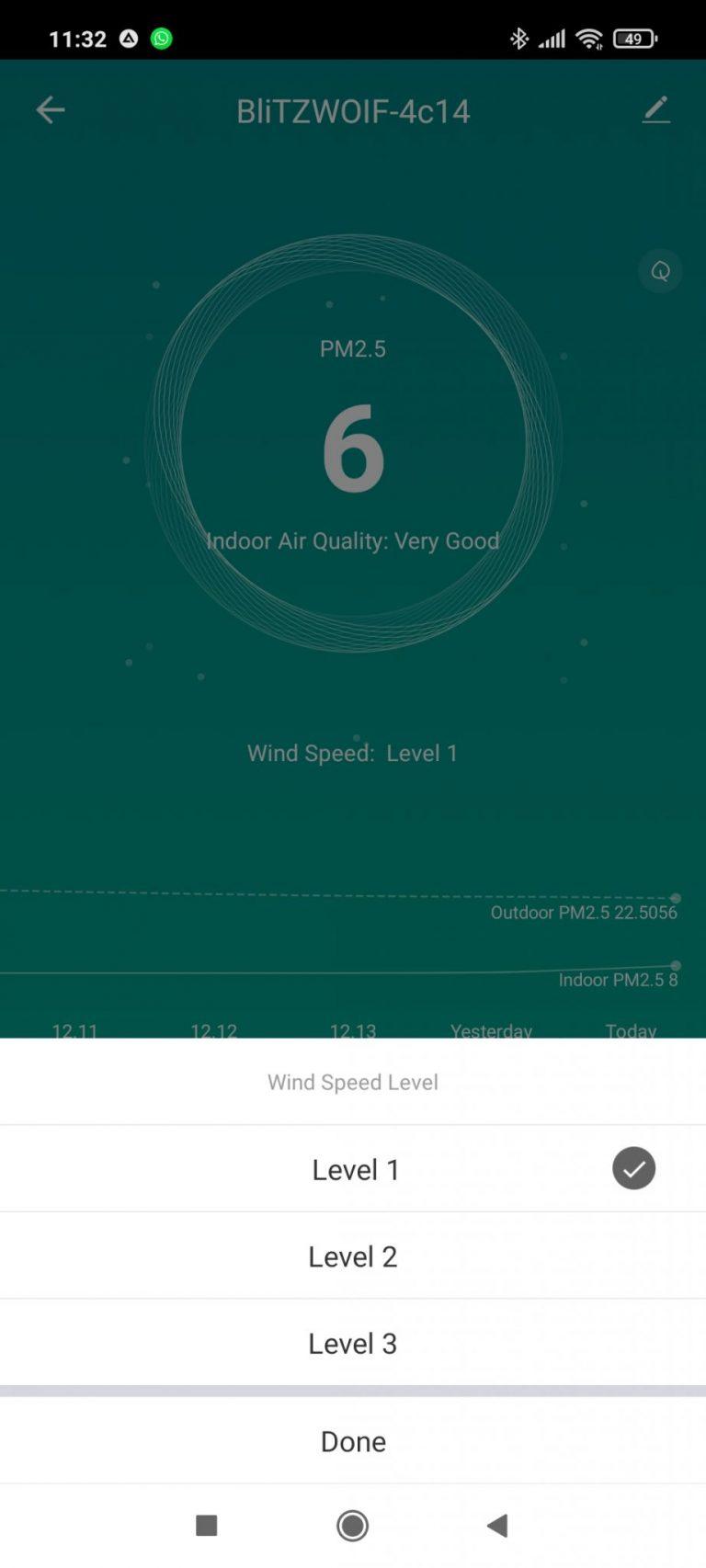 BlitzWolf BW-AP2 légtisztító teszt 15
