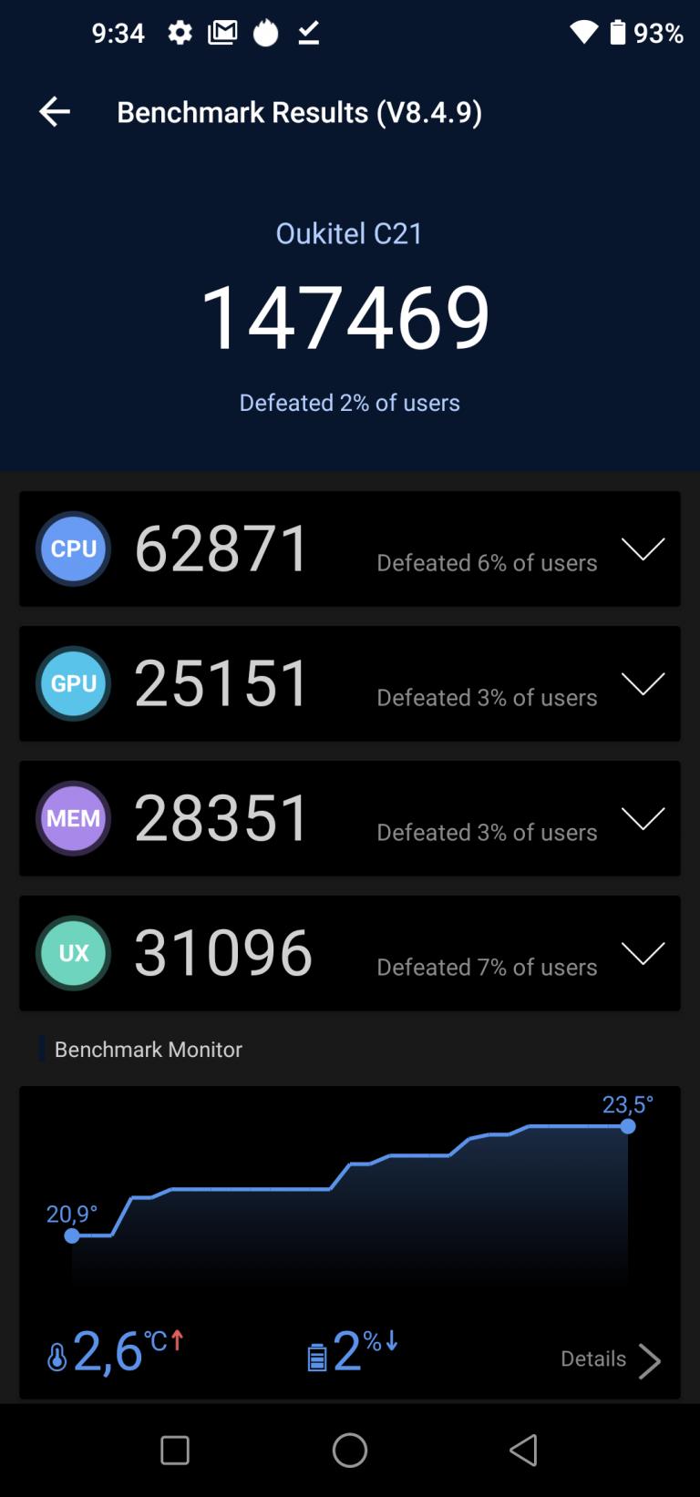 Oukitel C21 okostelefon teszt 14