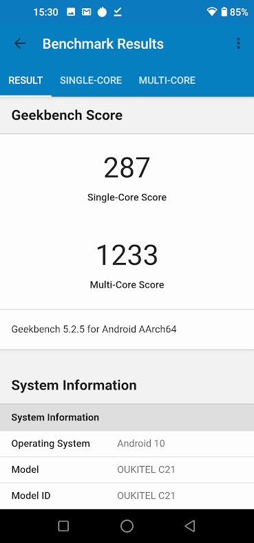 Oukitel C21 okostelefon teszt 17