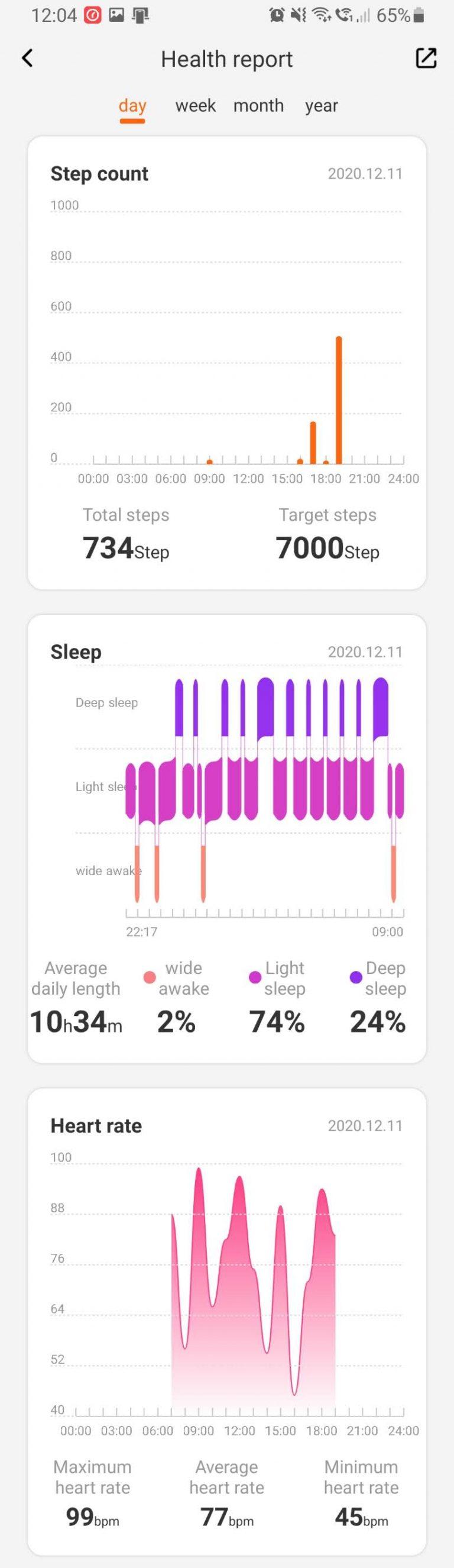 Xiaomi Mibro Air aktivitásmérő teszt 20