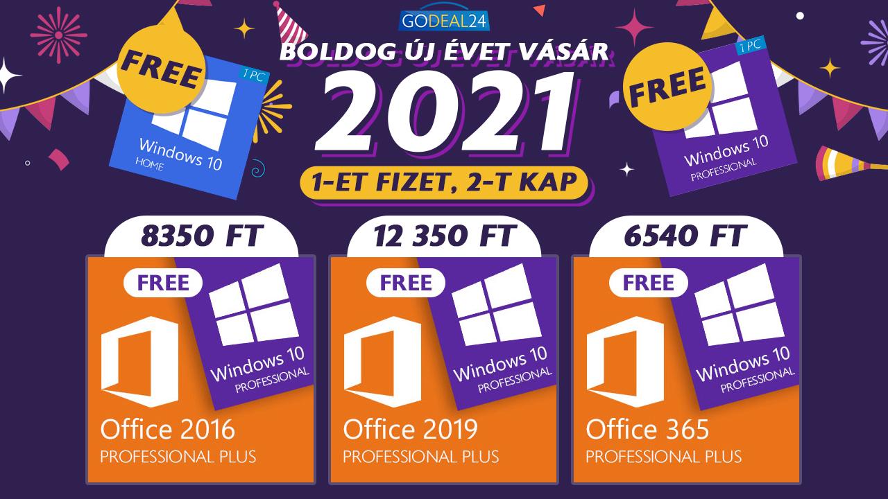 Akár ingyen Windows 10 az újévi vásáron 2