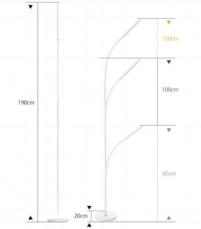 Digoo minimalista állólámpa több, mint megfelelő áron 13