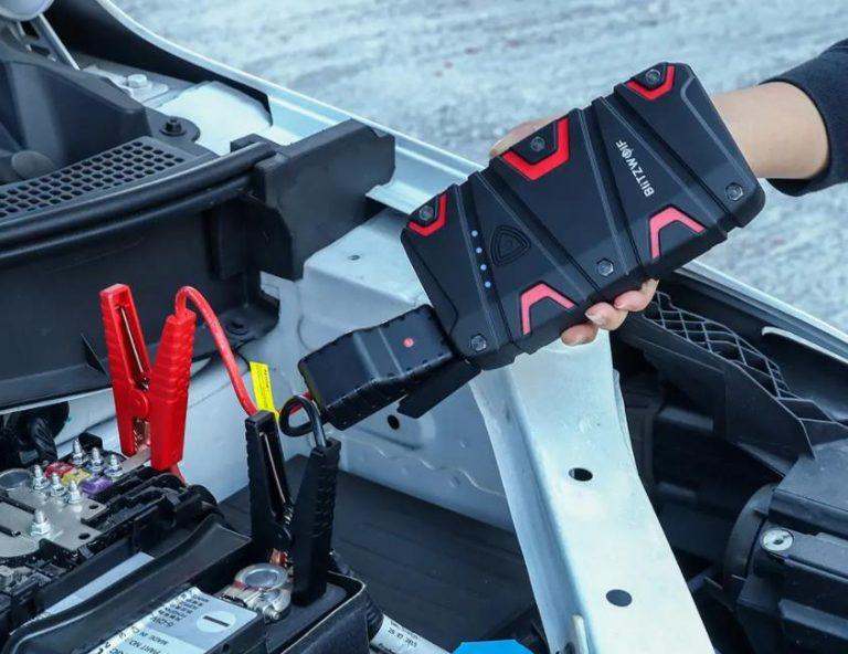 Még olcsóbb lett a BlitzWolf BW-JS1 autóbikázós powerbank 4