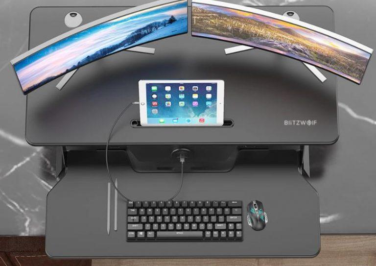 Álló munkaállomás home office-hoz a BlitzWolf kütyüjével 3