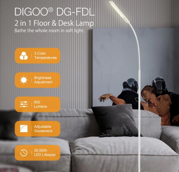 Digoo minimalista állólámpa több, mint megfelelő áron 2