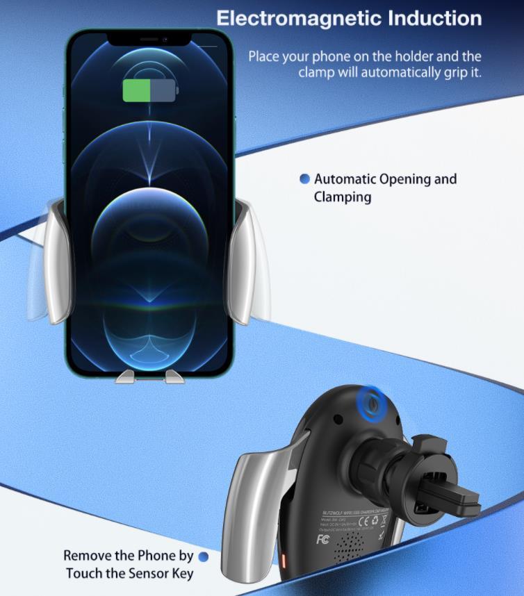 15 wattos vezeték nélküli töltés a BlitzWolf új autós tartójával 5