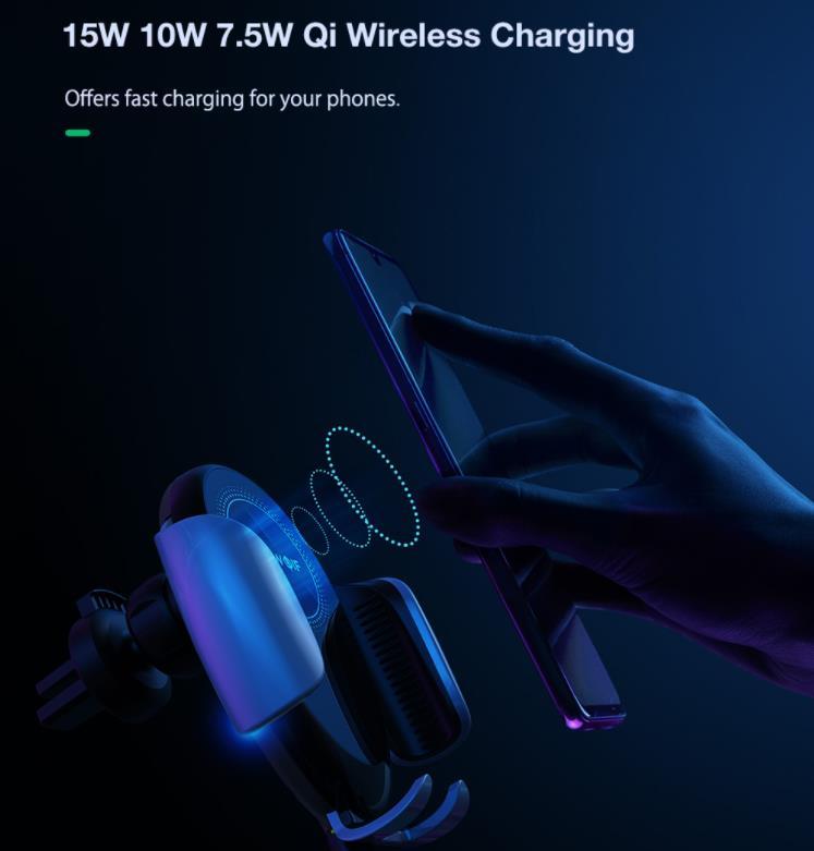 15 wattos vezeték nélküli töltés a BlitzWolf új autós tartójával 4
